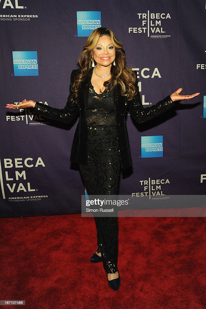 Executive Producer La Toya Jackson attends the 'Dancing In Jaffa' World Premiere at the AMC Loews Village 7 during the 2013 Tribeca Film Festival on April 20, 2013 in New York City.