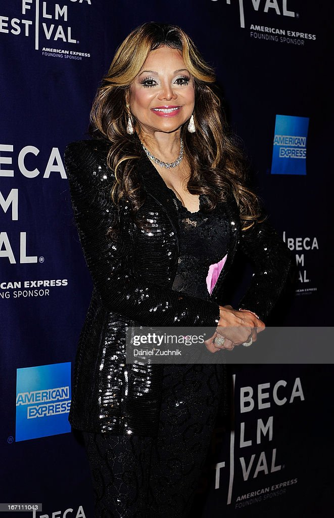 Executive Producer La Toya Jackson attends the screening of 'Dancing in Jaffa' during the 2013 Tribeca Film Festival at AMC Loews Village 7 on April 20, 2013 in New York City.