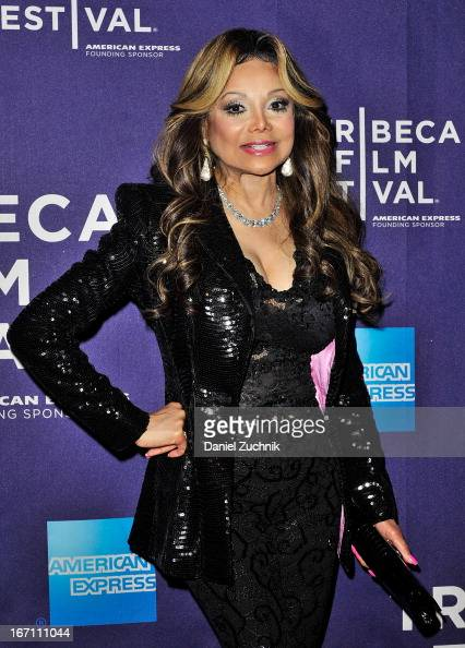 Executive Producer La Toya Jackson attends the screening of 'Dancing in Jaffa' during the 2013 Tribeca Film Festival at AMC Loews Village 7 on April...