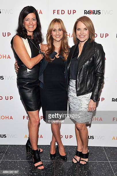 Executive producer Laurie David director Stephanie Soechtig and executive producer Katie Couric attend the 'Fed Up' premiere at the Museum of Modern...
