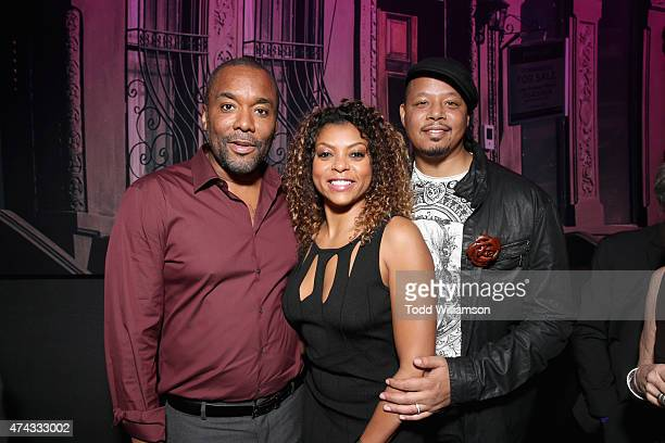 Executive producer Lee Daniels actress Taraji P Henson and actor Terrence Howard attend the FOX Los Angeles Screenings Party 2015 on the Fox Studio...