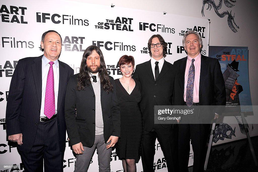 Executive producer Lenny Feinberg editor Demian Fenton producer Sheena Joyce director Don Argott and president IFC Entertainment Jonathan Sehring...