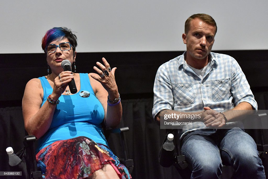 Executive Producer Linda Karn and Eddie Budz attend 'Matt Shepard Is A Friend Of Mine' benefit screening and Q&A at ArcLight Chicago on June 27, 2016 in Chicago, Illinois.