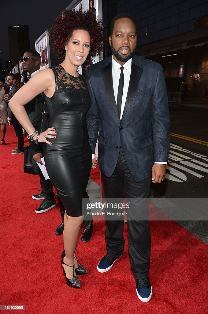 Executive producer Lyn Talbert and director/writer David E. Talbert attend the premiere of Fox Searchlight Pictures' 'Baggage Claim' at Regal Cinemas L.A. Live on September 25, 2013 in Los Angeles, California.