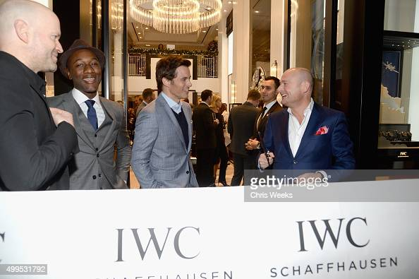 Executive producer Marc Forster recording artist Aloe Blacc actor James Marsden and IWC Schaffhausen CEO Georges Kern attend IWC Schaffhausen Rodeo...