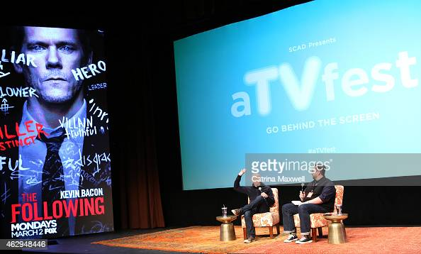 Executive producer Marcos Siega and senior writer at TV Guide Magazine Damian Holbrook speak on a panel following the Primetime Series Screening FOX...