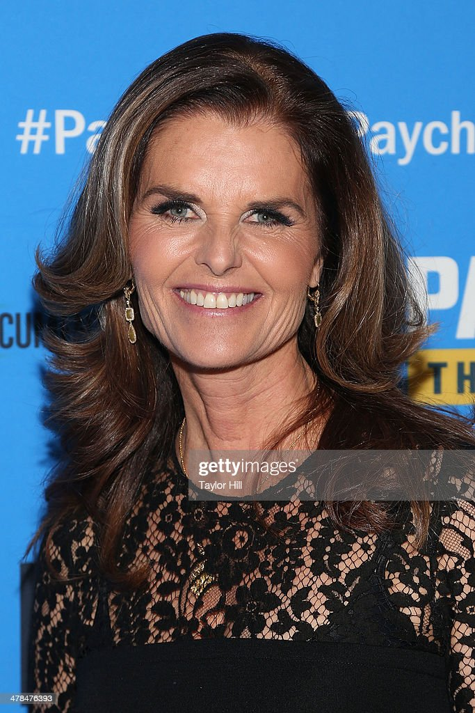 Executive Producer Maria Shriver attends the 'Paycheck To Paycheck The Life And Times Of Katrina Gilbert' premiere at HBO Theater on March 13 2014 in...