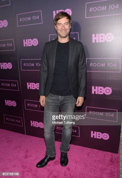 Executive producer Mark Duplass attends the Los Angeles premiere for HBO's 'Room 104' at Hollywood Forever on July 27 2017 in Hollywood California