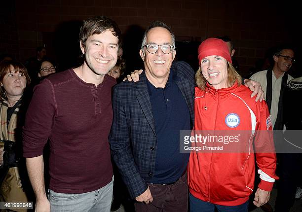 Executive producer Mark Duplass Sundance Film Festival Director John Cooper and director Bryan Buckley attend 'The Bronze' Premiere at the Eccles...