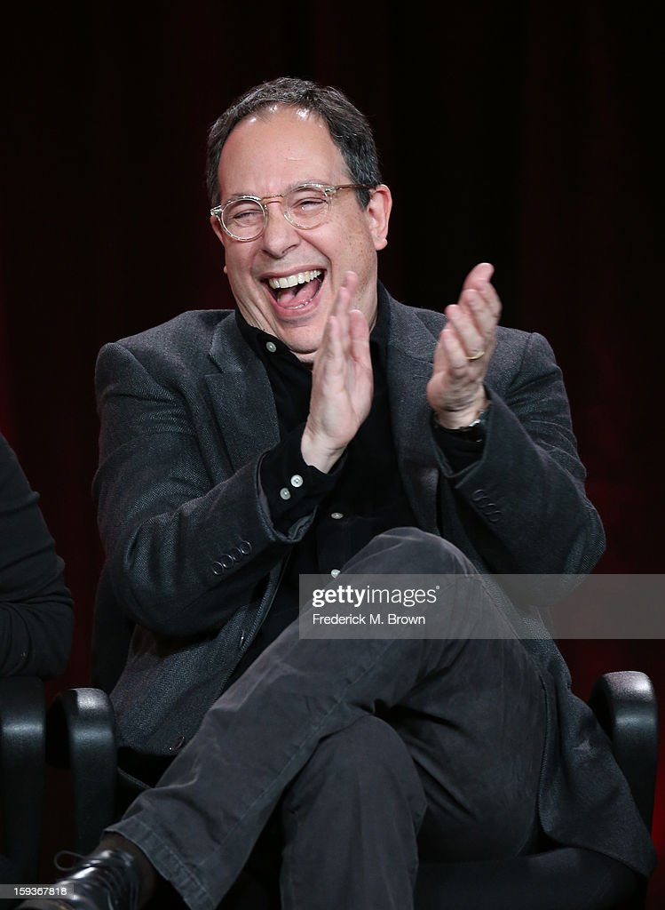 Executive Producer Mark Gordon of 'Ray Donovan' reacts onstage during the Showtime portion of the 2013 Winter TCA Tour at Langham Hotel on January 12, 2013 in Pasadena, California.