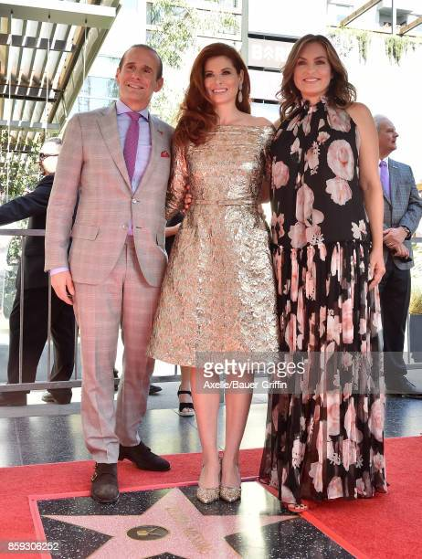 Executive producer Max Mutchnick actors Debra Messing and Mariska Hargitay attend the ceremony honoring Debra Messing with star on the Hollywood Walk...
