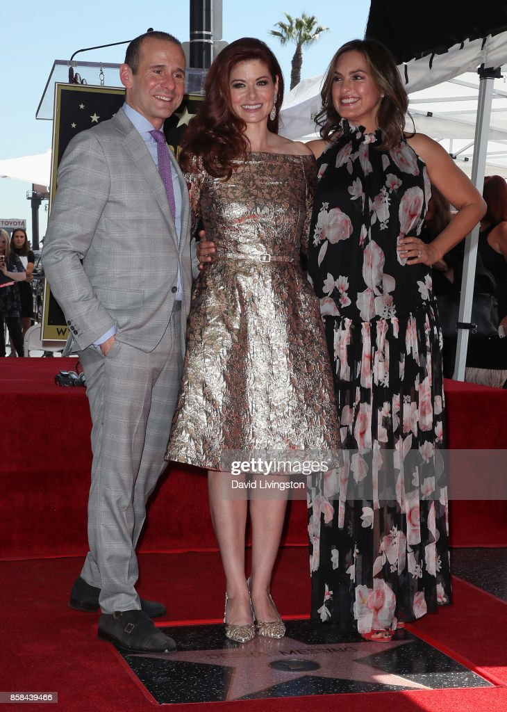 Executive producer Max Mutchnick and actresses Debra Messing and Mariska Hargitay attend Debra Messing being honored with a Star on the Hollywood Walk of Fame on October 6, 2017 in Hollywood, California.