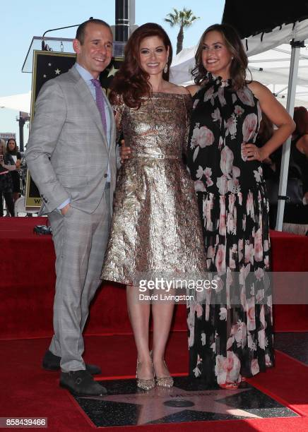 Executive producer Max Mutchnick and actresses Debra Messing and Mariska Hargitay attend Debra Messing being honored with a Star on the Hollywood...
