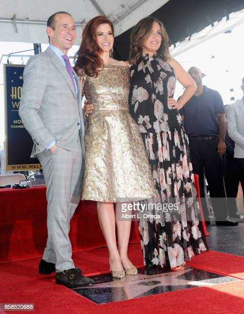 Executive producer Max Mutchnick of 'Will Grace' actress Debra Messing and actress Mariska Hargitay attend Debra Messing Star Ceremony on The...
