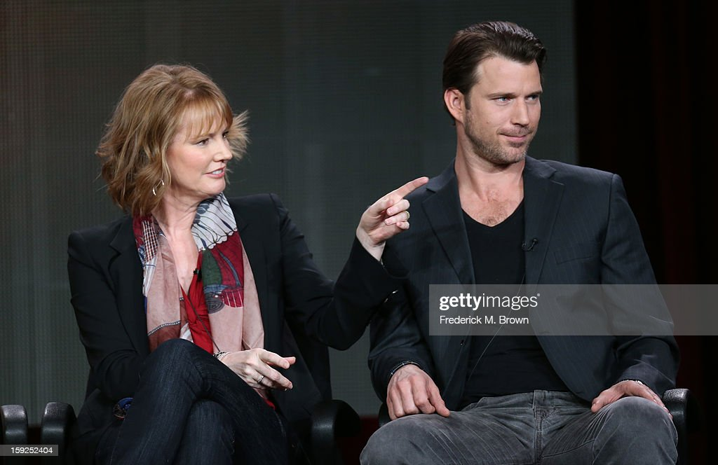 Executive Producer Melissa Rosenberg and actor Wil Traval of 'Red Widow' speak onstage during the ABC portion of the 2013 Winter TCA Tour at Langham Hotel on January 10, 2013 in Pasadena, California.