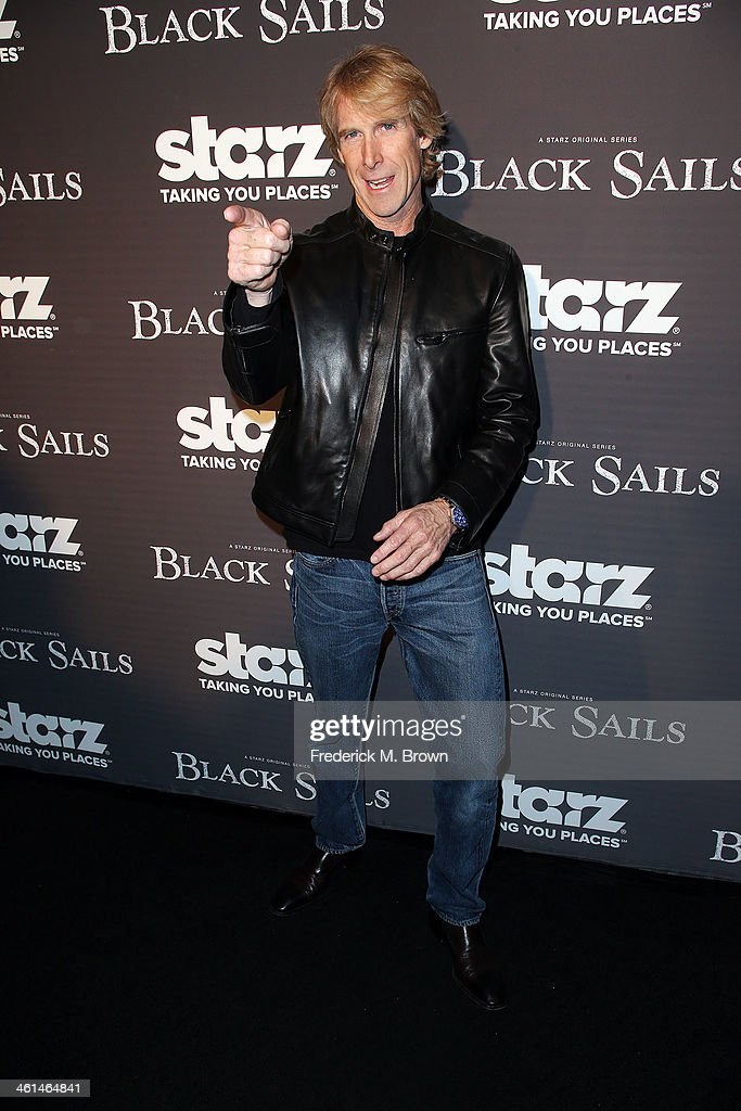 Executive producer <a gi-track='captionPersonalityLinkClicked' href=/galleries/search?phrase=Michael+Bay&family=editorial&specificpeople=240532 ng-click='$event.stopPropagation()'>Michael Bay</a> attends the Premiere of Starz Original Series 'Black Sails' at the Harmony Gold Preview House and Theater on January 8, 2014 in Hollywood, California.