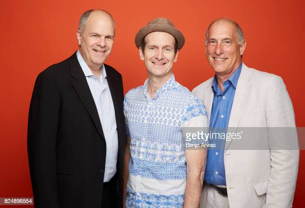 Executive producer Michael Kantor actor Denis O'Hare writer/director Eric Stange of PBS's 'Edgar Allan Poe Buried Alive' pose for a portrait during...