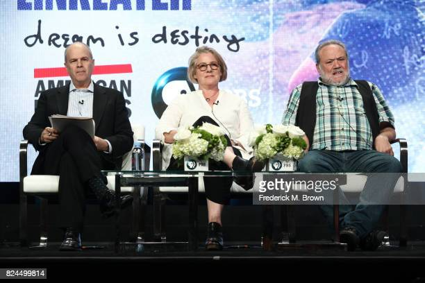 Executive producer Michael Kantor and codirectors/coproducers Karen Bernstein and Louis Black of 'American Masters Richard Linklater – dream is...