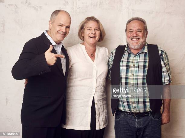 Executive producer Michael Kantor and codirectors/coproducers Karen Bernstein and Louis Black of PBS's 'American Masters Richard Linklater' pose for...