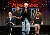 Executive producer Michael Kantor subject Norman Lear and filmmaker Rachel Grady speak onstage during the 'American Masters Norman Lear' panel...