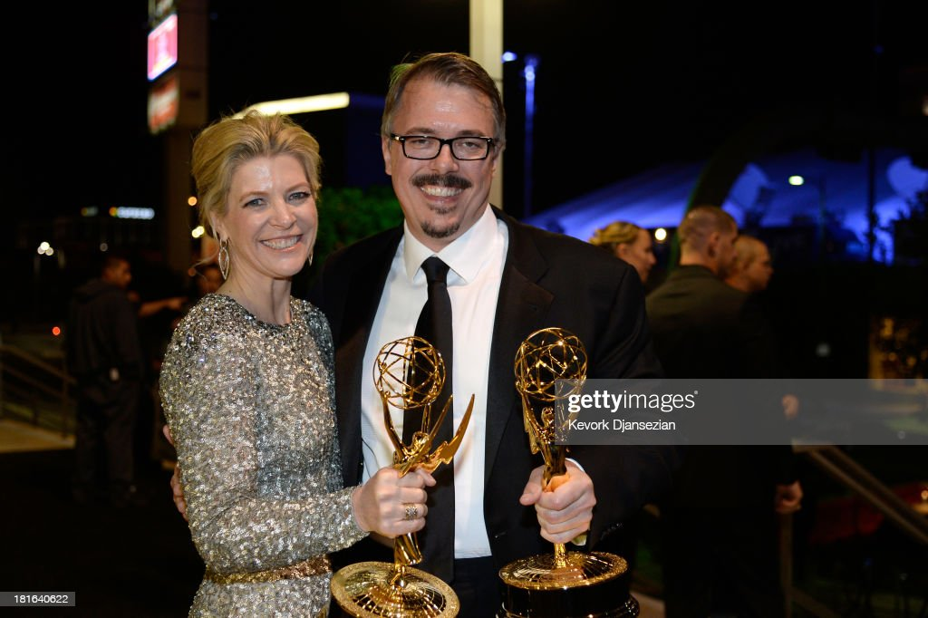 Executive Producer Michelle MacLaren and Producer/ Creator <a gi-track='captionPersonalityLinkClicked' href=/galleries/search?phrase=Vince+Gilligan&family=editorial&specificpeople=4360133 ng-click='$event.stopPropagation()'>Vince Gilligan</a> attends the Governors Ball during the 65th Annual Primetime Emmy Awards at Nokia Theatre L.A. Live on September 22, 2013 in Los Angeles, California.