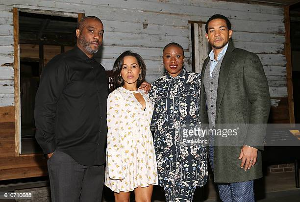Executive Producer Mike Jackson and 'Underground' stars Amirah Vann Aisha Hinds and Alano Miller take a tour of The Smithsonian National Museum of...