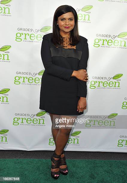 Executive producer Mindy Kaling attends VERTE Grades of Green's annual fundraising event to benefit environmental education at BelAir Bay Club on...