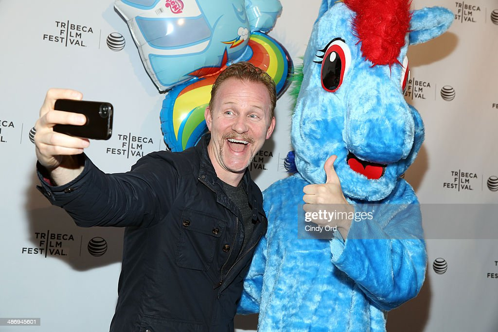 Executive producer <a gi-track='captionPersonalityLinkClicked' href=/galleries/search?phrase=Morgan+Spurlock&family=editorial&specificpeople=212719 ng-click='$event.stopPropagation()'>Morgan Spurlock</a> attends the 'A Brony Tale' Premiere during the 2014 Tribeca Film Festival at Chelsea Bow Tie Cinemas on April 26, 2014 in New York City.