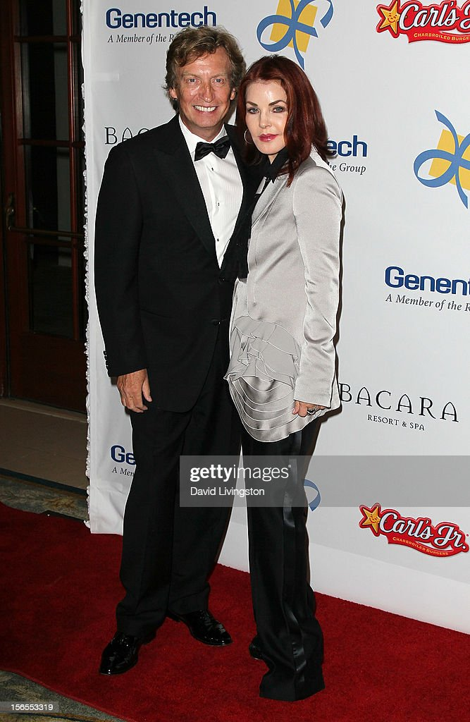 Executive producer Nigel Lythgoe (L) and actress Priscilla Presley attend the Dream Foundation's 11th Annual Celebration of Dreams at Bacara Resport and Spa on November 16, 2012 in Santa Barbara, California. Dream Foundation is a national organization that serves the final wishes of adults - and their families - facing life-threatening illness.