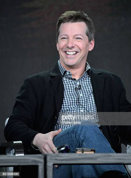 Executive producer of 'The History of Comedy' Sean Hayes speaks onstage during the CNN Original Series portion of the TCA Turner Winter Press Tour...