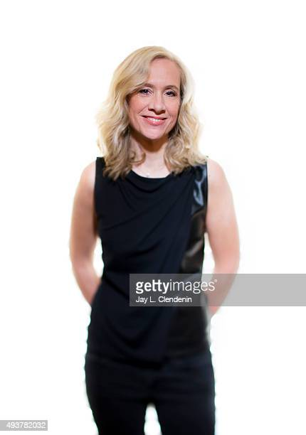 Executive producer of TV production company ShondaLand Betsy Beers is photographed for Los Angeles Times on September 23 2015 in Los Angeles...