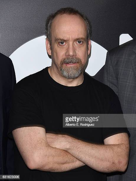 Executive producer Paul Giamatti attends the photo call for WGN America's 'Underground' and 'Outsiders' at The Langham Hotel on January 13 2017 in...
