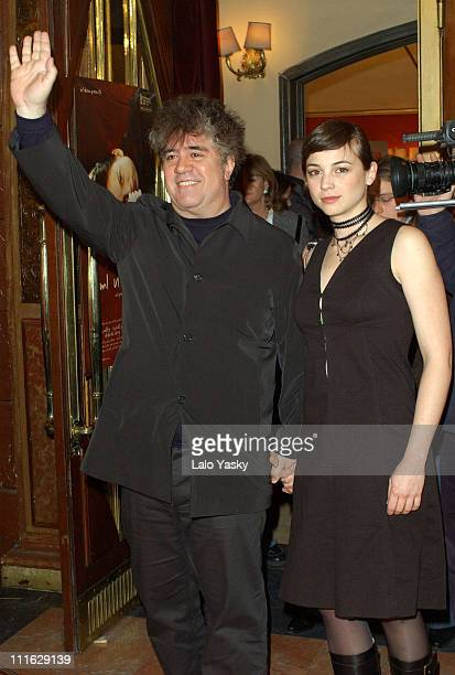 Executive producer Pedro Almodovar and Leonor Watling