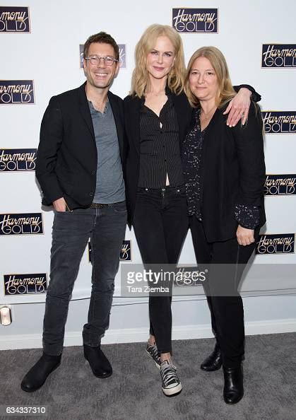 Executive producer Per Saari actress Nicole Kidman and executive producer Bruna Papandrea attend a screening of 'Big Little Lies' hosted by...