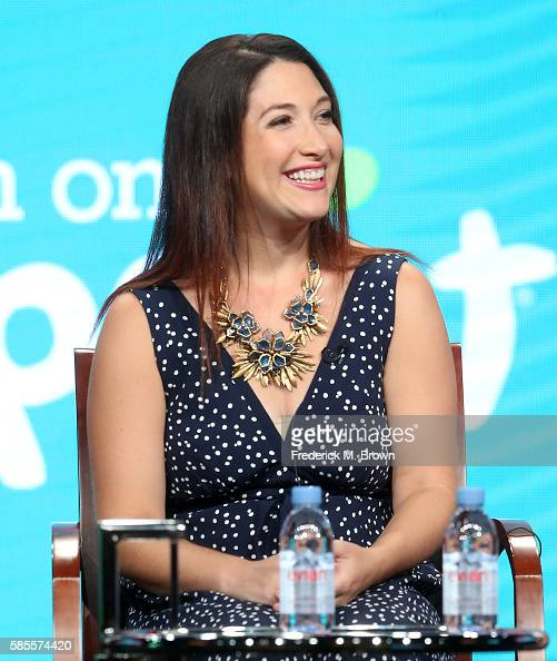 Executive producer Randi Zuckerberg speaks onstage at the 'Dot' panel discussion during the NBCUniversal portion of the 2016 Television Critics...