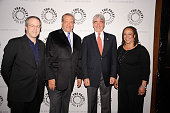 Executive Producer Rene Balcer Series Creator Dick Wolf and actors S Epatha Merkerson and Sam Waterston attend Law Order Twenty Years and Counting at...