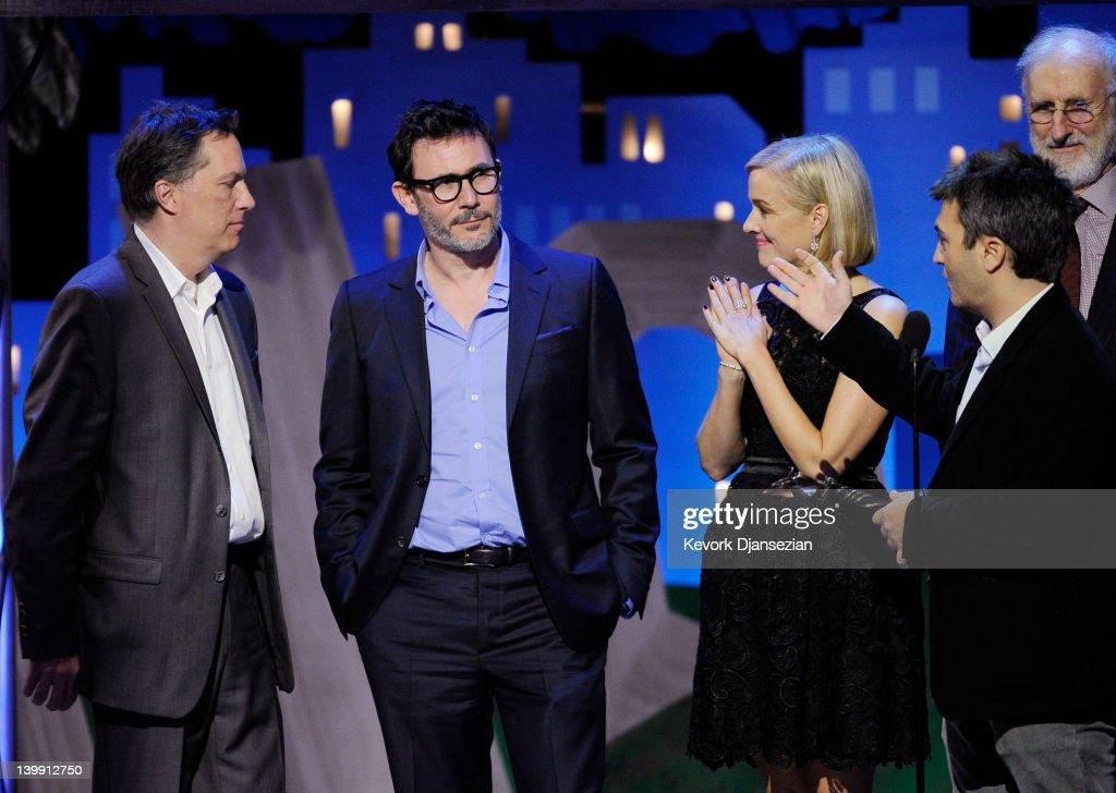Executive Producer Richard Middleton Director Michel Hazanavicius actress Penelope Ann Miller Producer Thomas Langmann and actor James Cromwell...