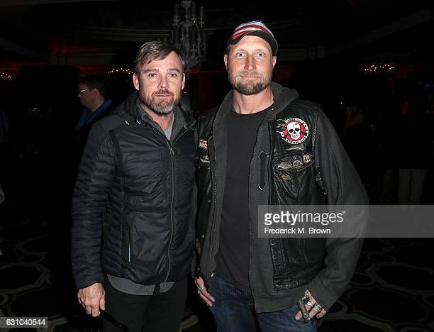 Executive producer Ricky Schroder and cameraman River Rainbow O'Mahoney Hagg attend the DirecTV Cocktail Reception during the 2017 Winter TCA Tour at...