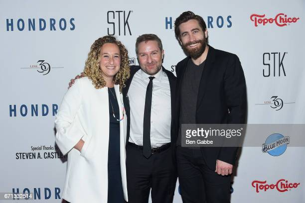 Executive producer Riva Marker writer/director Greg Campbell and executive producer Jake Gyllenhaal attend the 'Hondros' Premiere After Party during...