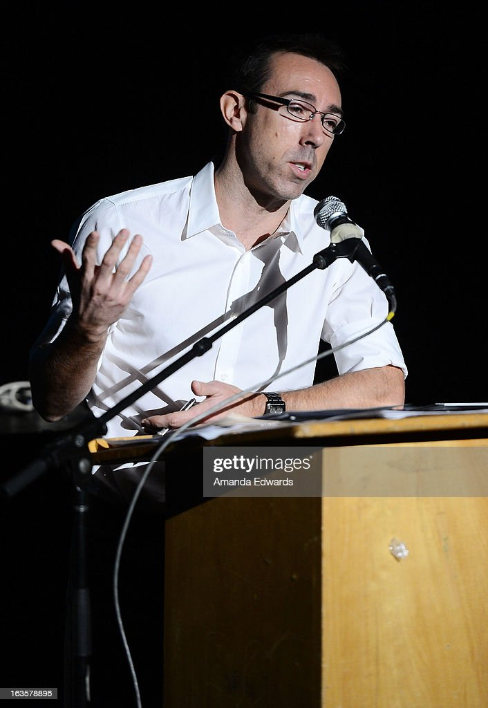 Executive producer Rob Bagshaw leads the BAFTA LA Reality TV Master Class at George Washington Preparatory High School on March 12, 2013 in Los Angeles, California.