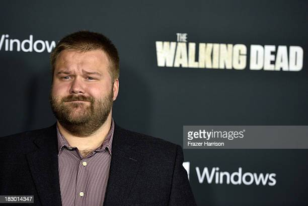 Executive producer Robert Kirkman arrives at the premiere of AMC's 'The Walking Dead' 4th season at Universal CityWalk on October 3 2013 in Universal...