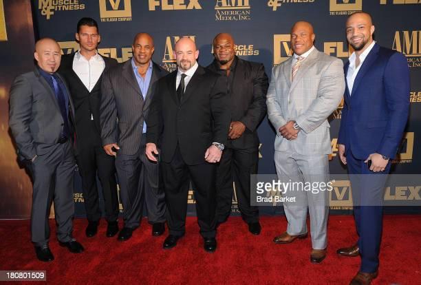 Executive Producer Robin Chang Director Vald Yudin Victor Martinez Branch Warren Kai Greene Phil Heath and Edwin Mejia attend the 'Generation Iron'...