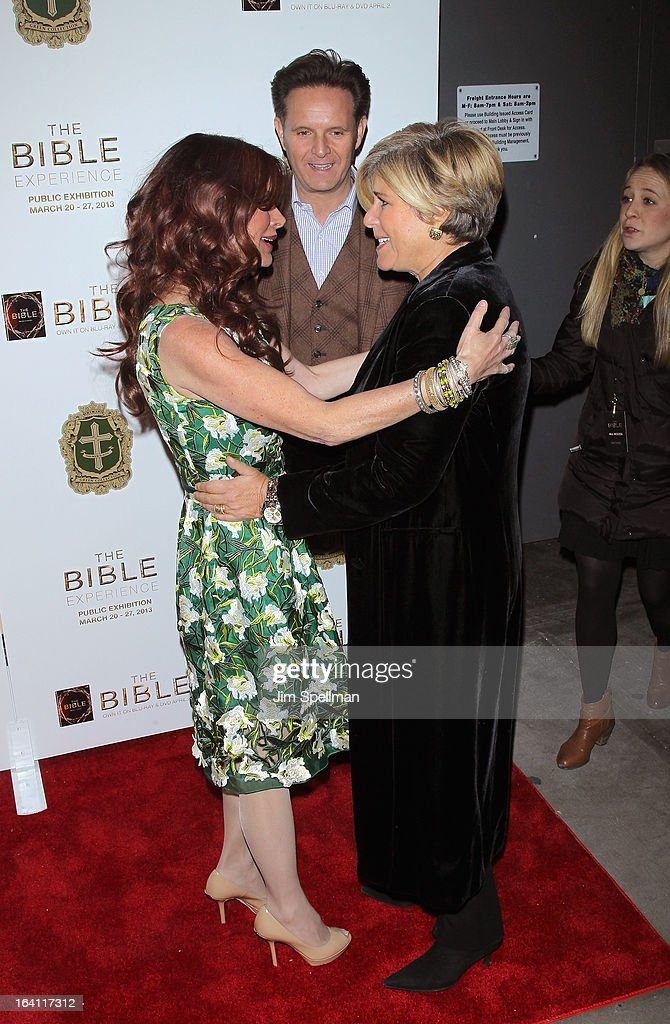 Executive Producer Roma Downey, Mark Burnett and tv personality Suze Orman and executive producer attend 'The Bible Experience' Opening Night Gala at The Bible Experience on March 19, 2013 in New York City.