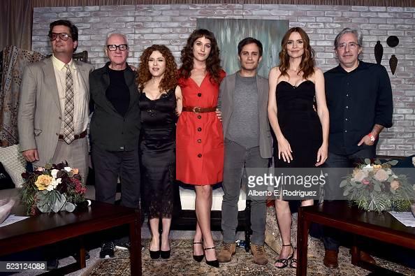 Executive producer Roman Coppola actors Malcolm McDowell Bernadette Peters actors Lola Kirke Gael Garcia Bernal Saffron Burrows and executive...