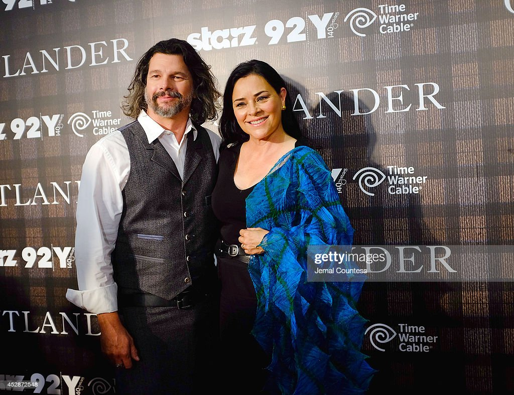 Executive producer Ronald Moore and author <a gi-track='captionPersonalityLinkClicked' href=/galleries/search?phrase=Diana+Gabaldon&family=editorial&specificpeople=1055806 ng-click='$event.stopPropagation()'>Diana Gabaldon</a> attend the 'Outlander' series screening at 92nd Street Y on July 28, 2014 in New York City.