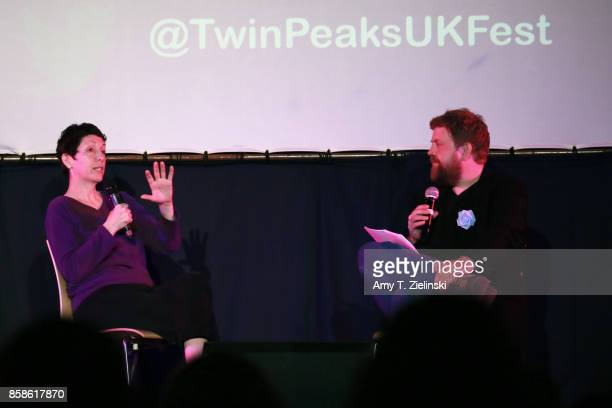 Executive producer Sabrina S Sutherland answers questions from author Tom Huddleston of Time Out magazine in London during the Twin Peaks UK Festival...