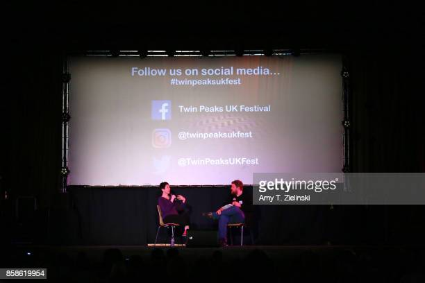 Executive producer Sabrina S Sutherland answers questions from fans and author Tom Huddleston of Time Out magazine in London during the Twin Peaks UK...