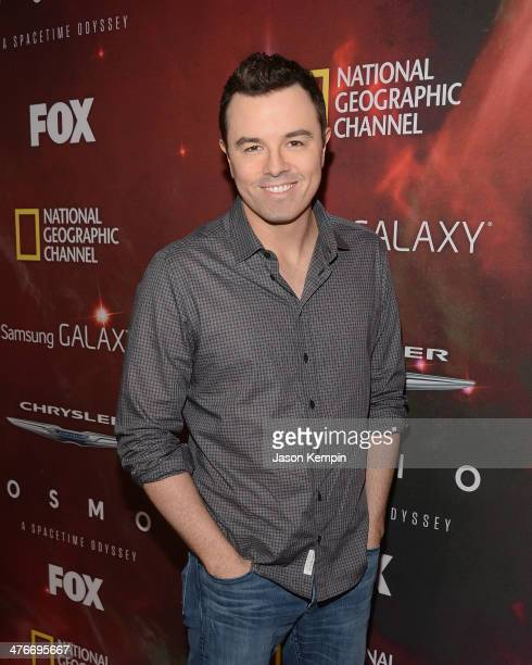 Executive Producer Seth MacFarlane attends the premiere of Fox's 'Cosmos A SpaceTime Odyssey' at The Greek Theatre on March 4 2014 in Los Angeles...