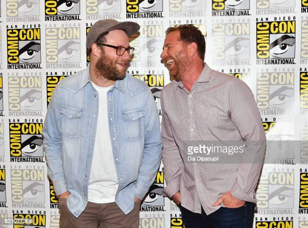 Executive producer Seth Rogen and guest at Hulu's 'Future Man' Press Line duirng ComicCon International 2017 at Hilton Bayfront on July 22 2017 in...