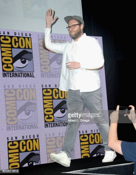Executive producer Seth Rogen speaks onstage at ComicCon International 2017 AMC's 'Preacher' panel at San Diego Convention Center on July 21 2017 in...